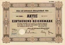 LOT 10 x Eisen- und Hüttenwerke AG Köln Aktie 1940 Andernach EHW Rasselstein
