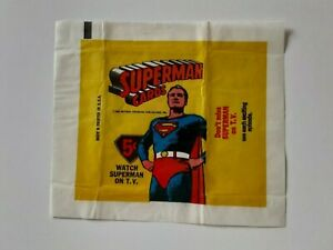 1965 SUPERMAN CARD WRAPPER TOPPS TV series Cards near mint NM condition beauty
