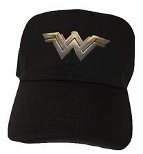Black Wonder Woman Adjustable Cap Strapback Dad Hat Movie Logo Superhero DC