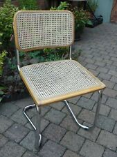 Marcel Breuer Cesca Inspired Chair Chrome Wicker Rattan Italian 07/99 Cantilever