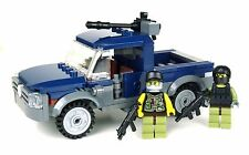 Deluxe Mercenary Technical Gun Truck made with real LEGO® bricks and minifigures