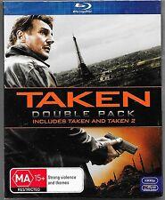 Taken 1 & 2 (Blu-ray, 2013, 2-Disc Set With Slipcase ) New Region B Free Post