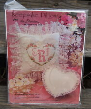 NIP Keepsake Pillow Cross Stitch KIT by Extension Heart Shape Valentines Day USA
