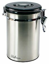 Bellemain Stainless Steel Coffee Canister with CO2 Vents, 1 Lb. Capacity