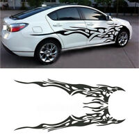 2x Car SUV Body Side Decal Vinyl Flame Graphics Racing Stripes Sticker Universal