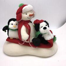 Hallmark Jingle Pals Singing Snowman Dog Penguin Sled Sleigh Dog Plush Christmas