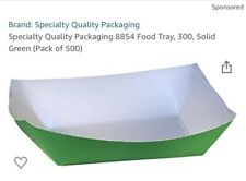 Specialty Quality Packaging 8854 Food Tray, 300, Solid Green (Pack of 500)
