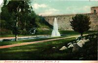 Vintage Postcard - Posted 1907 Fountain and Dam Brewster New York NY #3692