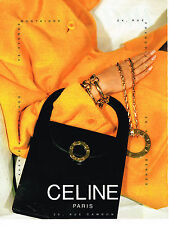 PUBLICITE ADVERTISING 074  1991  CELINE  accessoires sacs