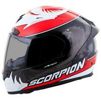 Scorpion EXO-R2000 Masbou Full Face Motorcycle Helmet Black Red Medium MD