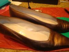 Vintage Chanel Bronze Lambskin Kitten Heel Pumps Sz 38 7 1/2. VGVC 1A