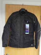 BNWT's Triumph Womens Garratt motorcycle TriTex jacket - Size LM - Colour black