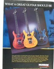 retro magazine advert 1987 WASHBURN guitars