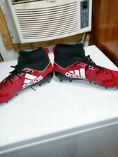 Adidas Adizero hightop Cleats Red/White Size 14
