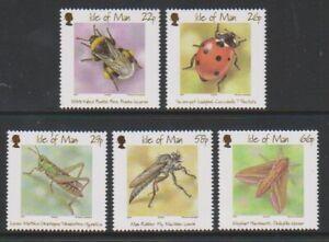 Île de Man - 2001, Insectes Ensemble - MNH - Sg 924/8
