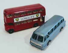5-D1 & 40-B3 VGC+ Lot Royal Tiger & Routemaster Lesney Matchbox circa '61/65