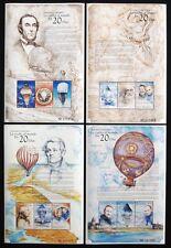 Nicaragua 1999. Scott # 2293 - 2296. Ballooning (4 sheets of 3)
