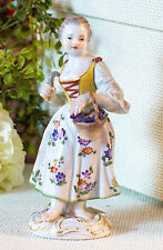 """In the Vineyard"" Meissen Porcelain Garden Child Figurine with Grape Hook"
