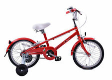 "Bobbin Sparrow Kids Boys Girls 16"" Wheel Retro Mixte Frame 60's Style Bike Red"