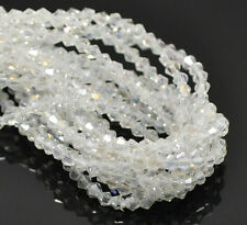 """5 Strands Clear AB Color Crystal Glass Faceted Bicone Beads 4x4mm(1/8""""x1/8"""")"""