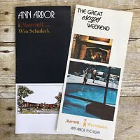 Vintage Hotel Brochures Marriott Ann Arbor Michigan MI 1970's Travel Advertising