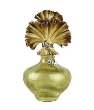 JAY STRONGWATER ADA PLEATED BOUQUET PERFUME BOTTLE SWAROVSKI NEW MADE IN USA