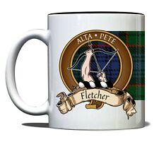Fletcher Scottish Clan Tartan 11oz Mug with Crest and Motto