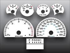 1998-1999 Dodge Dakota Tach Dash Cluster White Face Gauges 98-99