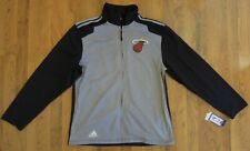 Adidas Climawarm Miami Heat Tipoff Jacket Gray/Blk-NEW-NWT-Large