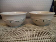 New ListingSet Of 2 Longaberger Small Dessert Bowl Woven Traditions Heritage Green Pottery