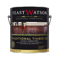 Feast Watson TRADITIONAL TIMBER OIL 4L Semi-Transparent, Exterior MERBAU