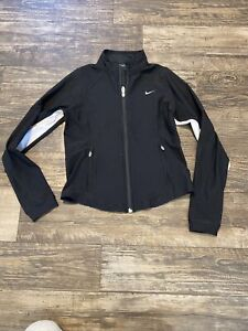Nike black/white full zip Running jacket, small 4-6 womens
