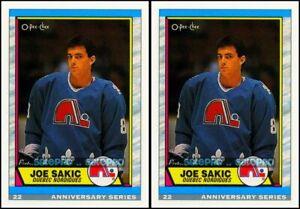 2x OPC 1992 JOE SAKIC NHL RC REPRINT QUEBEC NORDIQUES MINT ROOKIE CARD #113 LOT