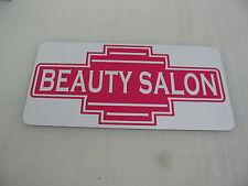 Pink BEAUTY SALON Metal Sign 40's 50s Retro Vintage Style Art Deco Hair Parlor