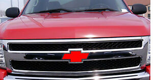 RED Vinyl Sheets (2) Wrap Chevy Universal Bowtie Emblem Overlay Cover Decals