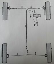 FORD ESCORT MK 3, 1600RS TURBO  -  COPPER BRAKE PIPE SET