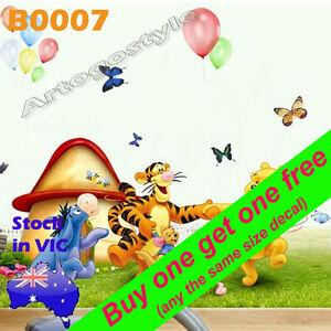 Large Winnie Wall Decal Sticker Nursery Home Baby Kid children room school B0007