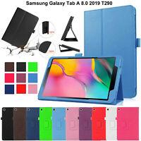 Pelle Custodia Magnetico Stand Libro Smart Cover Per Galaxy Tab A 8.0 2019 T290