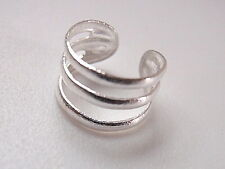 Triple Plain Band Ear Cuff Earring Sterling Silver Corona Sun Jewelry Earcuff
