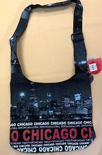New Robin Ruth Chicago City Skyline Cross Body Sling Tote Bag