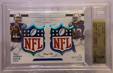 Andrew Luck TY Hilton 2016 National Treasures Dual Shield 1/1 BGS 9 Mint