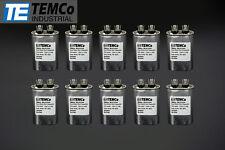 TEMCo 15 MFD uF Run Capacitor 440 vac Volts 10 LOT AC Motor HVAC 15 uf