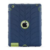 Hard Hybrid Shockproof Slim TPU Heavy  Case Cover For Apple iPad 2 3 4