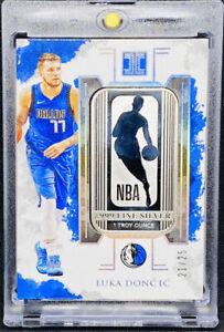 Luka Doncic 2019-20 Impeccable NBA Logo Logoman 1 Troy Ounce Silver Card 21/25