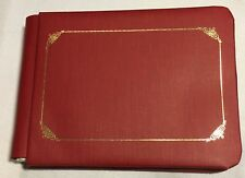 Creative Memories CRANBERRY RED ALBUM 5X7 Scrapbook 10 Pages Sentiments PHOTO