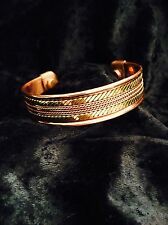 "Magnetic Copper Therapy Bracelet Unisex NIP .75"" wide"