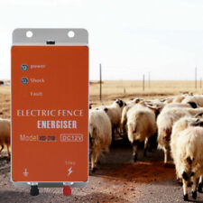 10km Electric Fence Energizer Charger For Ranch Animals Raccoon Cattle Dog Horse