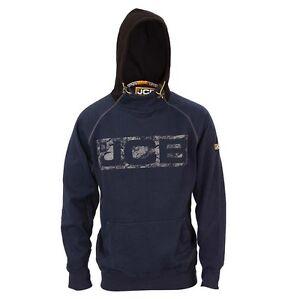 Mens JCB Horton Navy Heavyweight Hooded Sweatshirt Hoody Hoodie Workwear Top Sz