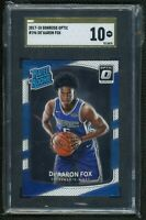 2017 Panini Donruss Optic DeAaron Fox RC SGC 10 GOLD LABEL POP 1