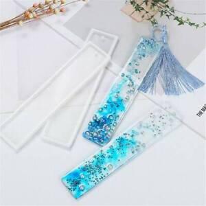 UK Rectangle Silicone Bookmark Mold Making Epoxy Resin Jewelry DIY Craft Mould ~